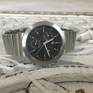 Calvin klein men's vintage silver black